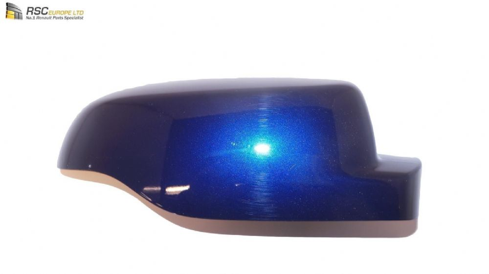 Renault Clio III Ph2 Right Door Mirror Cap Cover Shell in Blue 7701071874